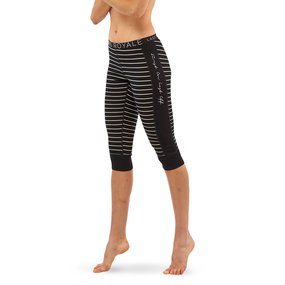 Mons Royale Womens Alagna 3/4 Legging black/thin stripe