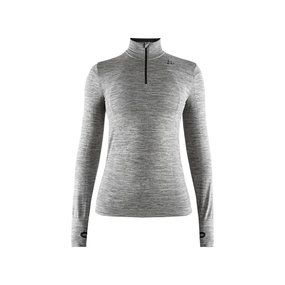 Craft Fuseknit Comfort Zip LS Women dark grey melange