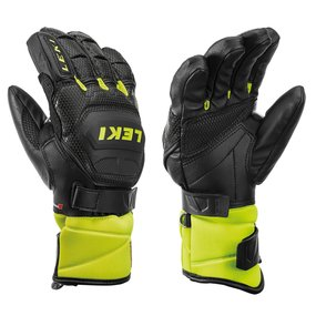 Leki Worldcup Race Flex S Junior Handschuhe, black-ice lemon