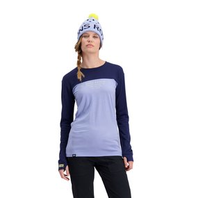 Mons Royale Womens Yotei BF Tech LS navy/blue fog