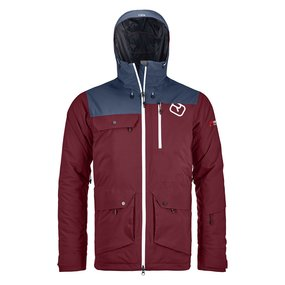 Ortovox 2L Swisswool Andermatt Jacket Men dark blood