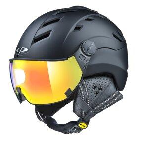 CP CAMURAI Ski & Snowboard Helm black s.t. mit DL Vario...
