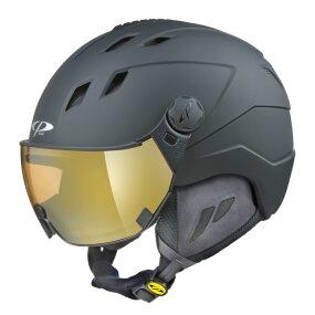 CP CORAO+ Ski & Snowboard Helm black s.t. mit DL Vario...