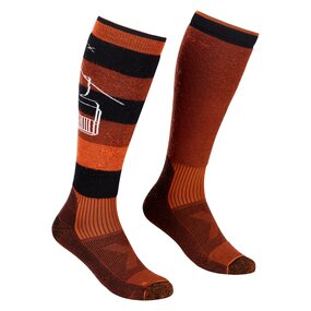 Ortovox Free Ride Long Socks Men clay orange