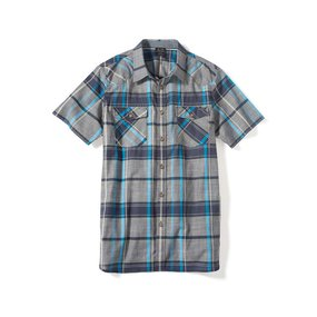 Oakley Short Sleeve On The Trail Woven navy blue, Gr. S
