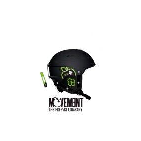 Movement Big a Ski & Snowboard Helm black/green, XS/S