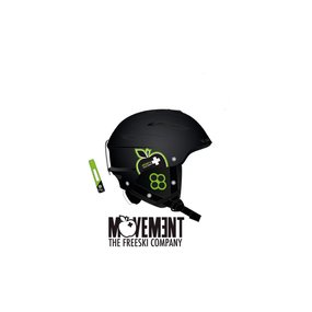 Movement Big a Ski & Snowboard Helm black/green, M/L