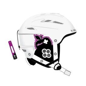 Movement Big a Women Ski & Snowboard Helm white/purple, M/L